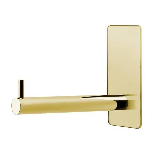 reservpappershållare krom blank silver för badrum självhäftande mässing guldig guld blank