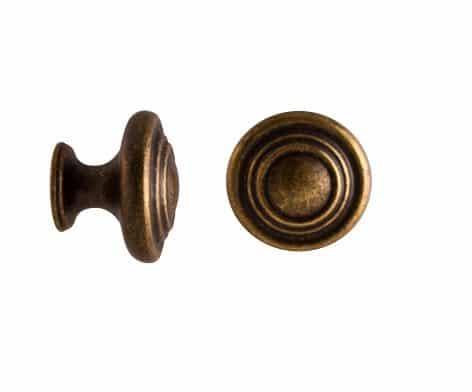 antik rund knopp