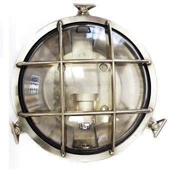 Gallerlampa krom rund
