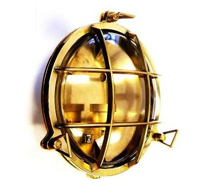 Gallerlampa i mässing rund