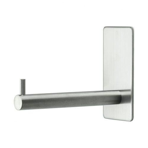 reservpappershållare krom blank silver för badrum självhäftande mattborstad matt rostfri