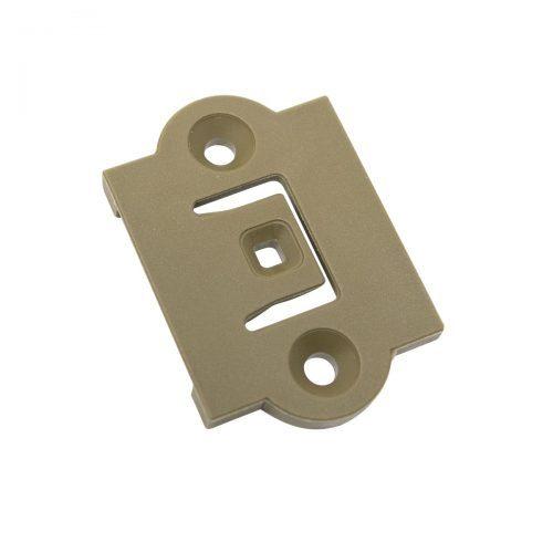monteringbricka fästplatta brun plast för innerdörrar