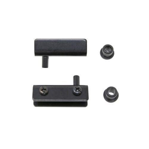 glasdörrsgångjärn svart par komplett för 2mm 3mm 4mm 5mm 6mm glas spegel