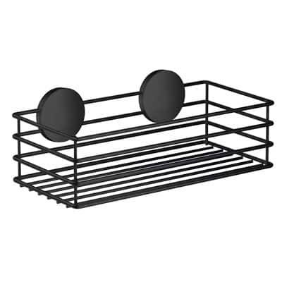 självhäftande duschkorg svart
