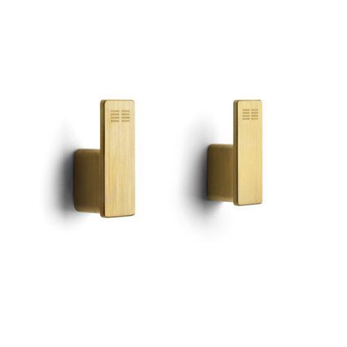reframe enkelkrokar matt mässing clean stilren snygg modern 2-pack guld