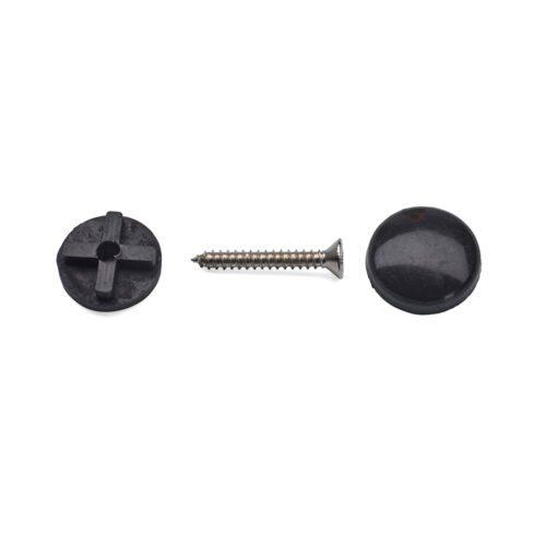 spegelhållare svart plast 18mm täckhatt