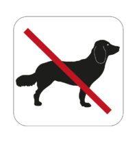 symbol självhäftande hundförbud